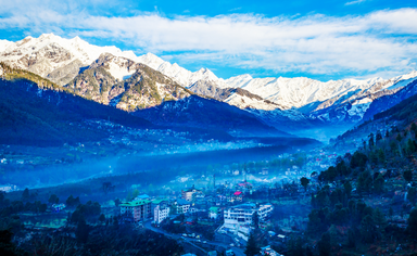 Himalayas mountains from Manali in India.
