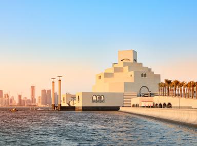 Doha at sunset