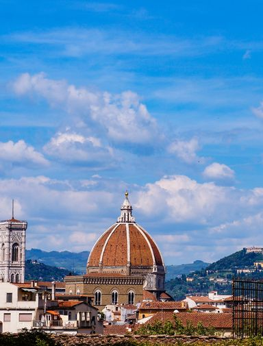 Looking back at Florence and the Duomo from the Boboli Gardens
