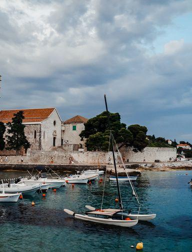 The harbour in Bol, a Dalmatian island