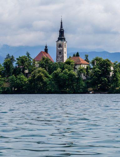 The monastery at Lake Bled