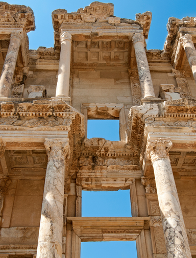 Detail of the Library of Celsius in Ephesus