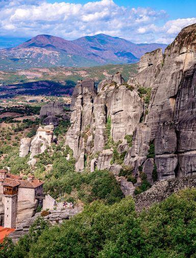 The monasteries at Meteora