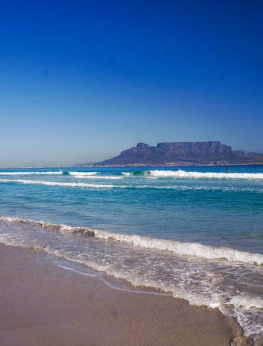 View of Table Mountain from Bloubergstrand, Cape Town