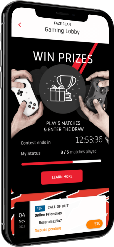 Phone showing the gaming lobby on the PLLAY app