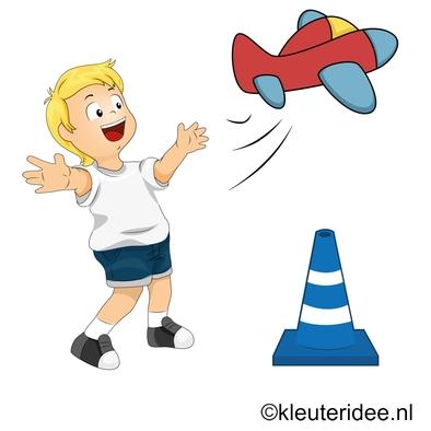 Gymles voor kleuters thema vliegveld, juf Petra, voor meer kleutergymlessen ga naar de site kleuteridee