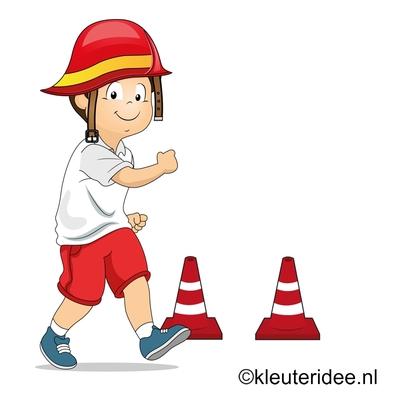 Gymles bij thema brandweer voor kleuters , juf Petra, voor meer kleutergymlessen ga naar de site kleuteridee