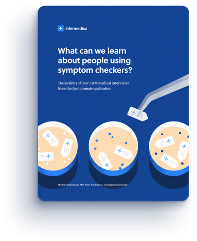 What can we learn about people using symptom checkers. Cover of the report.