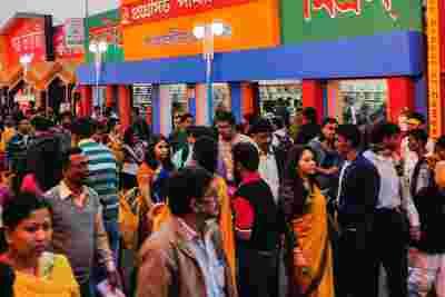 Bild eines indischen Marktes