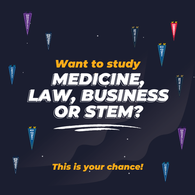Study Medicine, Law, Business or STEM At a Top US or UK University!