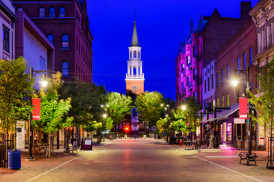 Best College Town Burlington Vermont