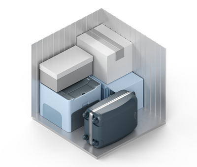 3D-Darstellung der Lagerraum-Größe XXS