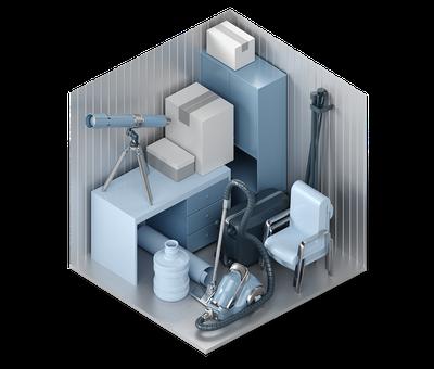 3D-Darstellung der Lagerraum-Größe S