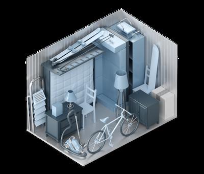 3D-Darstellung der Lagerraum-Größe M