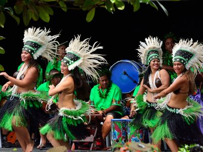 Performers at the Pasifika Festival.