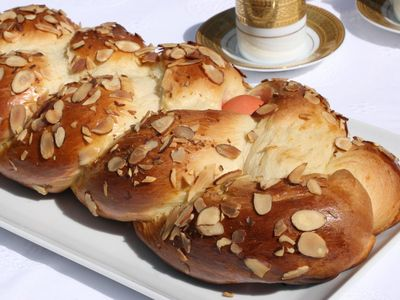 Tsoureki, the plaited Greek Easter bread