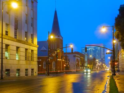 Wilmington Street in Downtown Raleigh, North Carolina, USA