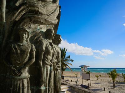 A sculpture near the beach in Playa del Carmen