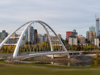 Panoramic view of the Edmonton on a sunny day