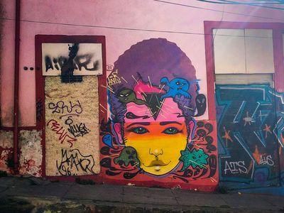 Graffiti and street art in Valparaiso, Chile.