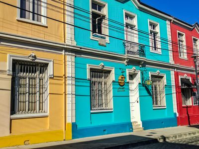 Colourful houses in Valparaiso, Chile