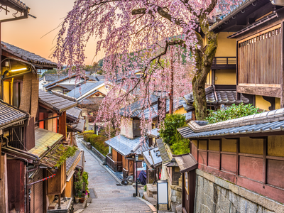 Kyoto's historic district in the Spring