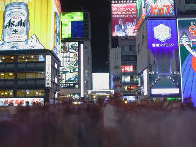 Crowds in Doutonnbori, Osaka at night