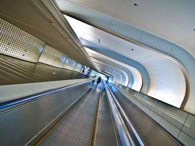 Artistic view of Osaka subway