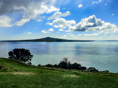 Looking at Rangitoto Island from Auckland's North Shore