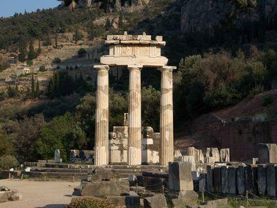 Columns at the Temple of Athena Pronaia