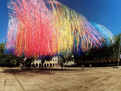 An art installation in Lodz