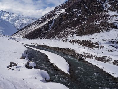River in the Chilean Andes