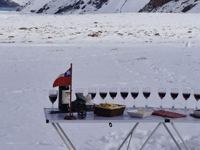 Wine in the snow