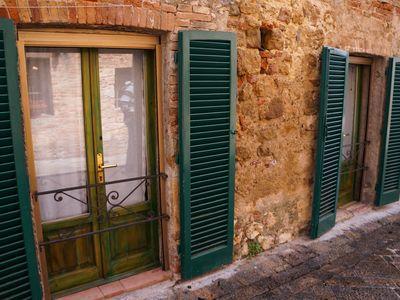 Shuttered doors in Monteriggioni, Tuscany