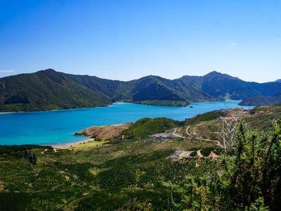 Looking across the Marlborough Sounds