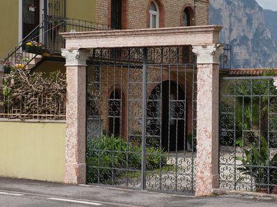 A colourful gate in Mezzocorona, Italy