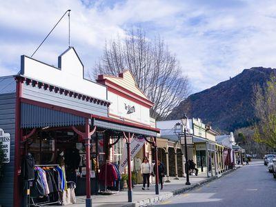 The main street of Arrowtown, New Zealand