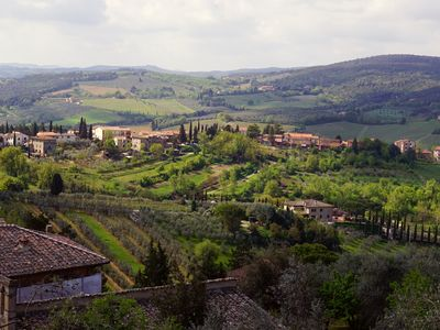 The rolling hills and walled villages of Tuscany.