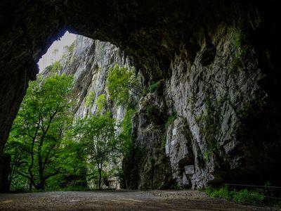 Leaving the Skocjan Caves