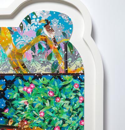 detail of corner of framed fantasy print