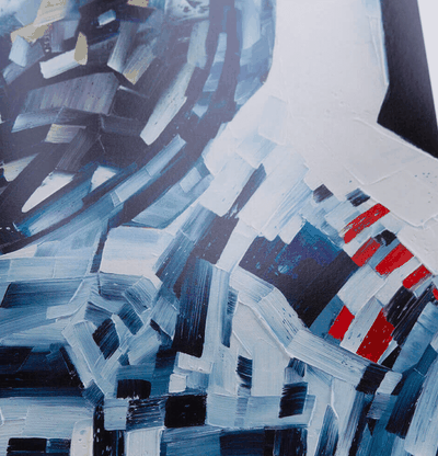 Detail of thick impasto brushstrokes