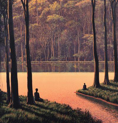 Tomas Sanchez – Contemplar al otro en tarde rosa