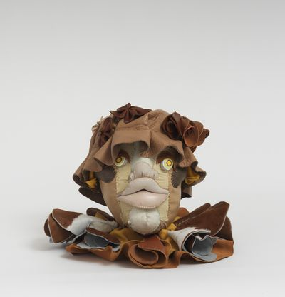Soft sculpture of leather and cloth, Fawn by Tau Lewis