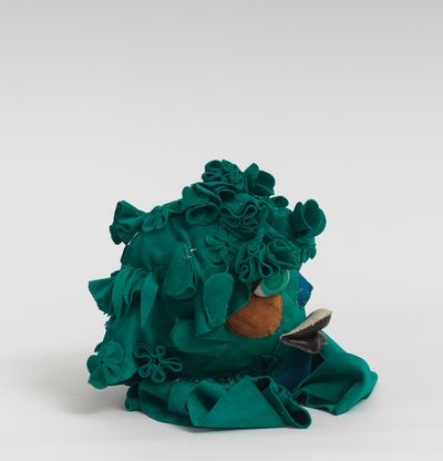 Soft sculpture of leather and cloth, Moss by Tau Lewis