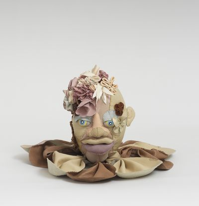 Soft sculpture of leather and cloth, Silk by Tau Lewis