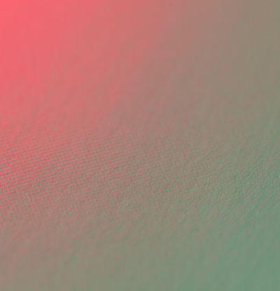 Dark shape gradient fading into bright pink and mint green, Schein Blossom by Jonny Niesche - detail shot