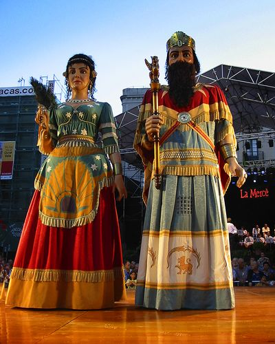 Barcelona's giant puppets.