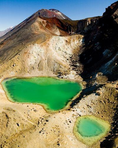 The Emerald Lakes in Tongariro National Park