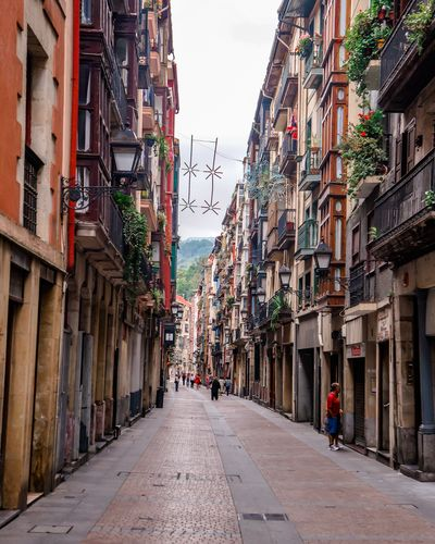 A street in Bilbao's old town