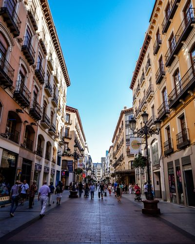 Walking down the street in Zaragoza